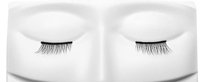 Half-strips of false eye lashes