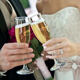cheap champagne may be a bad idea for a wedding