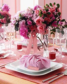 Floral wedding centriepiece by Martha Stweart