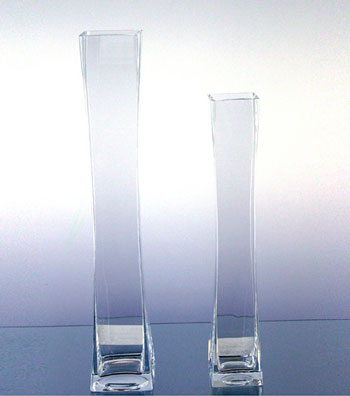 tall square tower glass vases