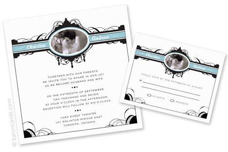 eco-chic wedding invitation