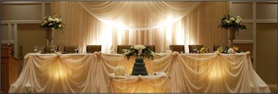wedding reception flowers & decor