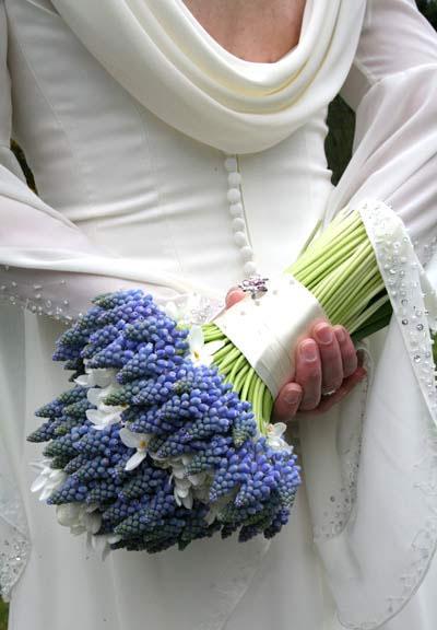 Spring Wedding Flowers: Hyacinth bridal bouquet