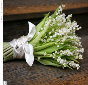 Spring Wedding Flowers: white lily of the valley bridal bouquet