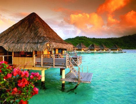 Tropical Honeymoon Destinations: Overwater Bungalows in Bora-Bora