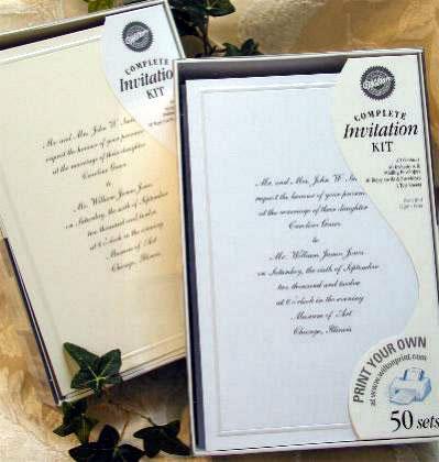 Bride Ca Diy Wedding Trend Do It Yourself Wedding Invitation Kits