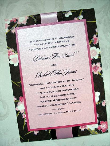 Japanese-style wedding invitation