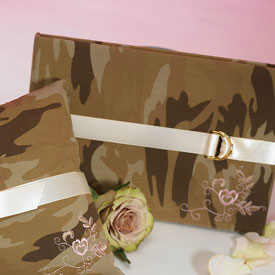 Camouflage wedding guest book!