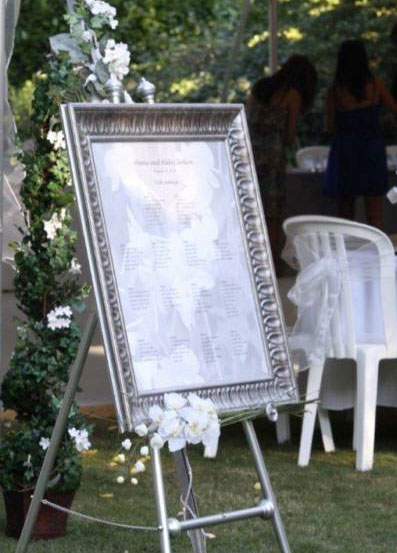 Beautiful and elegant frame for your table & seating chart