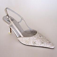 Beaded wedding shoes