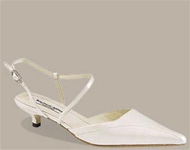Kitten-heel wedding shoes from Angelbrides in the UK