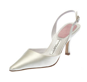 Simple wedding shoes for an ellaborate gown