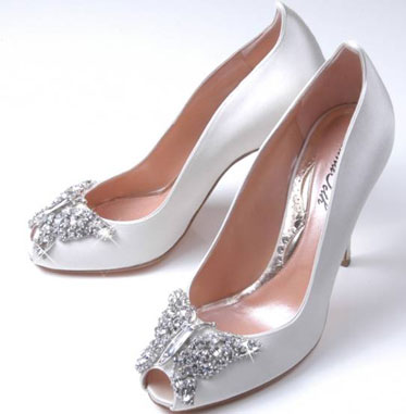 Swarovski butterlies on your wedding shoes