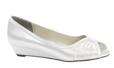 Wedding shoes with comfortable wedge heels