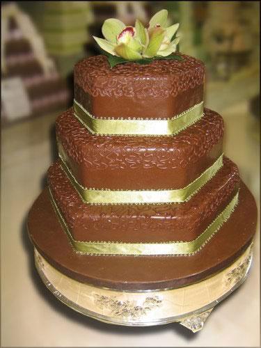 Just Temptations - Hexagon Wedding Cake