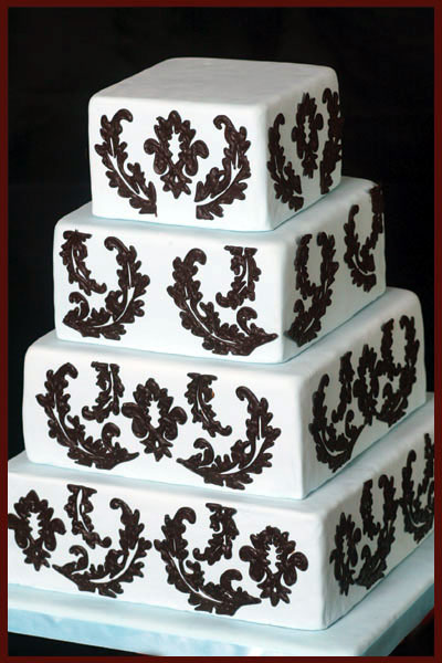 Let Sweet Thea - Square Wedding Cake