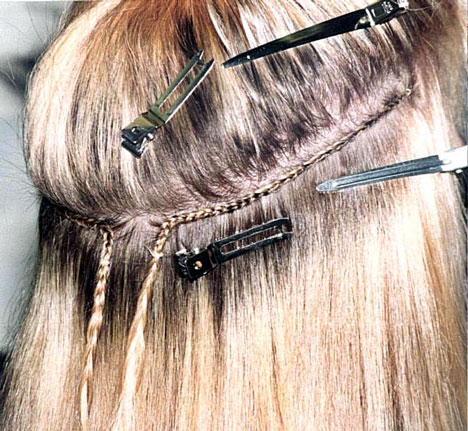 Bridal Hairstyle | Hair Extensions, wefts application