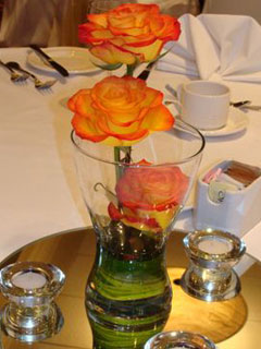 vase wedding centrepiece